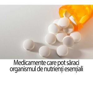 5 Medicamente care pot saraci organismul de nutrienți esențiali